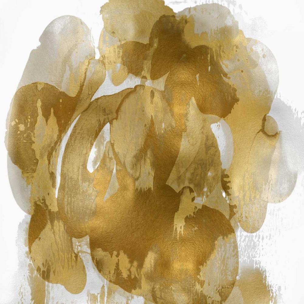konfigurieren des Kunstdrucks in Wunschgröße Gold Flow I von Jett, Kristina