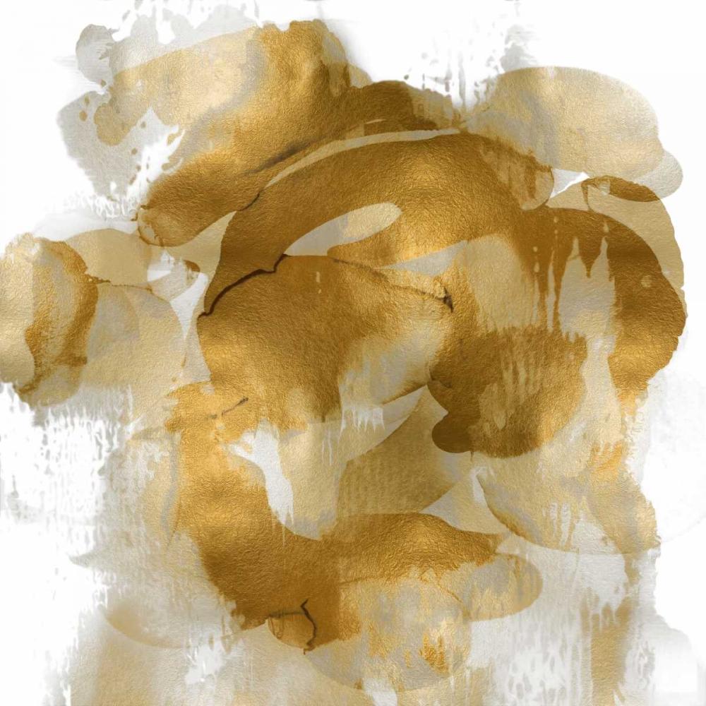 konfigurieren des Kunstdrucks in Wunschgröße Gold Flow II von Jett, Kristina