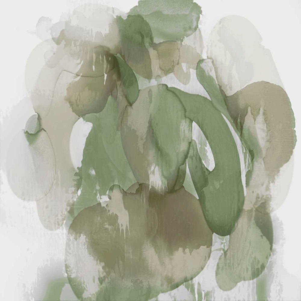 konfigurieren des Kunstdrucks in Wunschgröße Green Flow I von Jett, Kristina