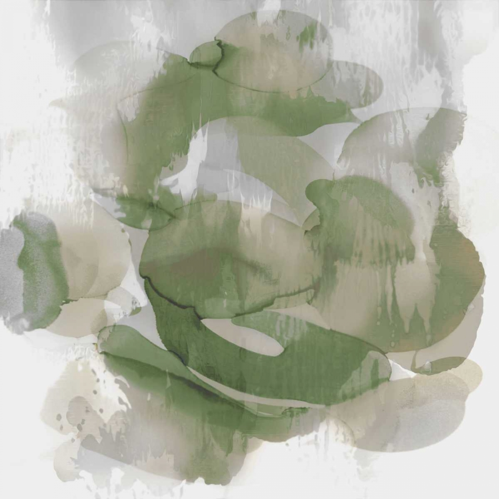 konfigurieren des Kunstdrucks in Wunschgröße Green Flow II von Jett, Kristina