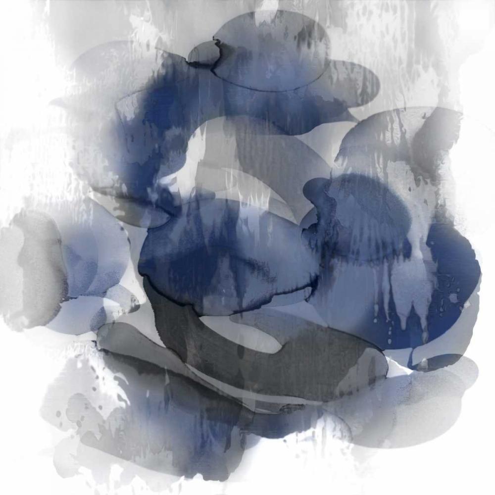 konfigurieren des Kunstdrucks in Wunschgröße Indigo Flow II von Jett, Kristina