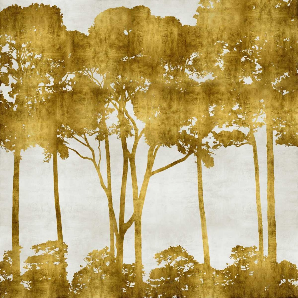 konfigurieren des Kunstdrucks in Wunschgröße Tree Lined In Gold I von Bennett, Kate