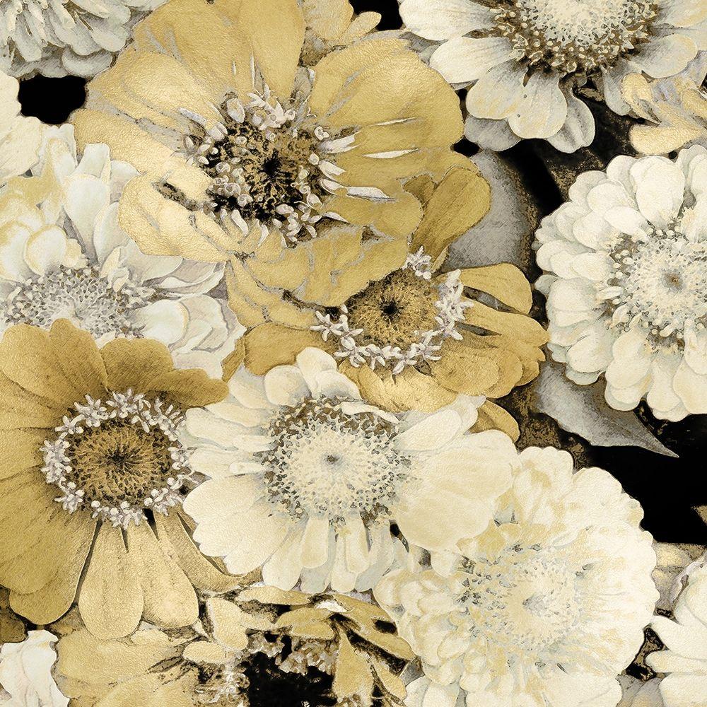 konfigurieren des Kunstdrucks in Wunschgröße Floral Abundance in Gold II von Bennett, Kate