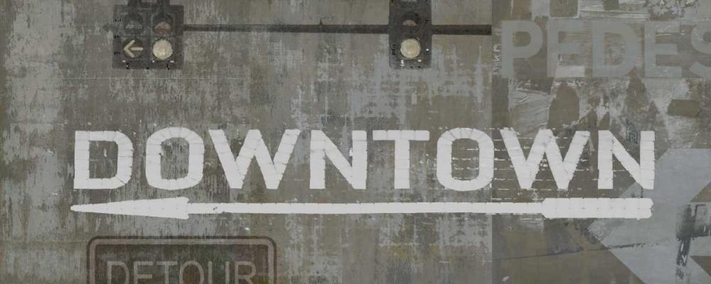 konfigurieren des Kunstdrucks in Wunschgröße Downtown von Wilson, Luke