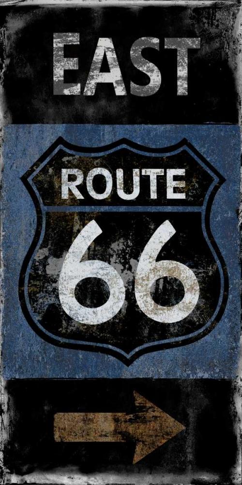 konfigurieren des Kunstdrucks in Wunschgröße Route 66 East von Wilson, Luke