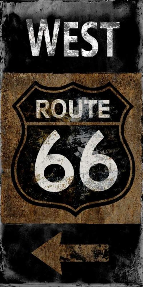 konfigurieren des Kunstdrucks in Wunschgröße Route 66 West von Wilson, Luke