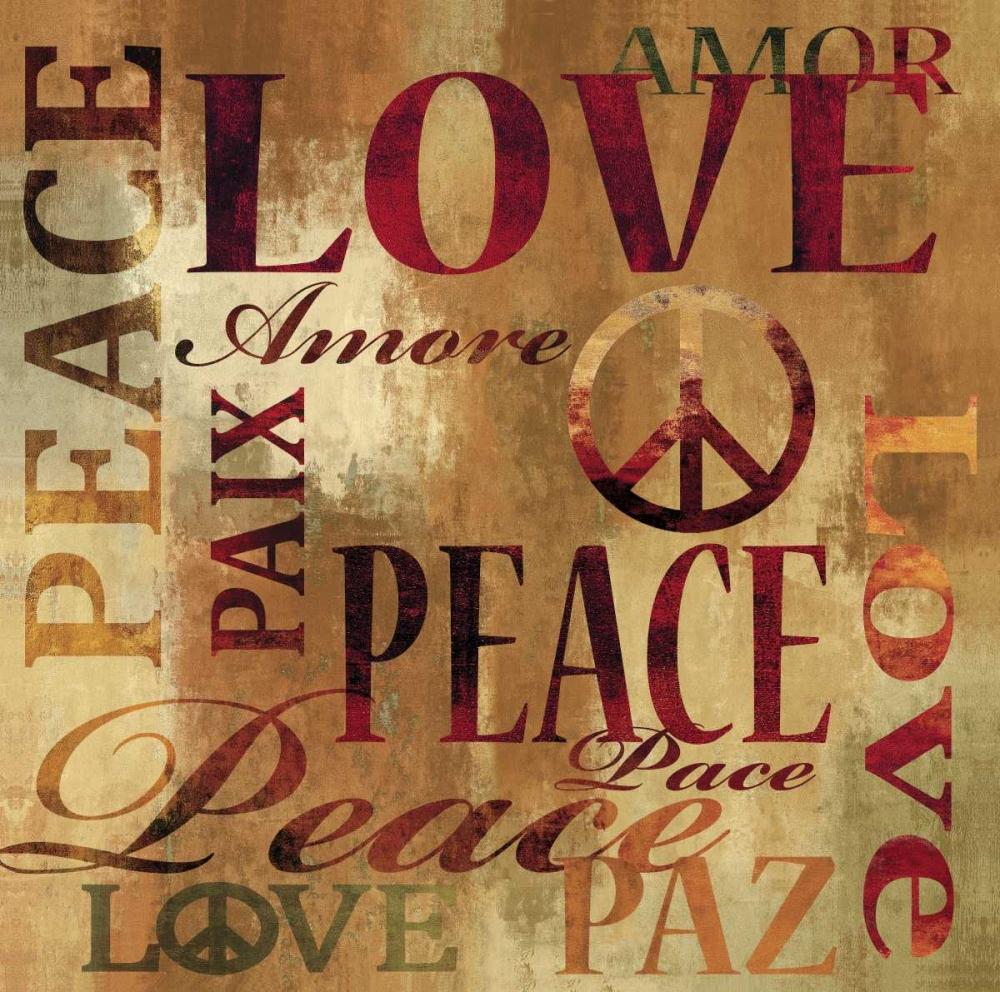 konfigurieren des Kunstdrucks in Wunschgröße Peace and Love von Wilson, Luke
