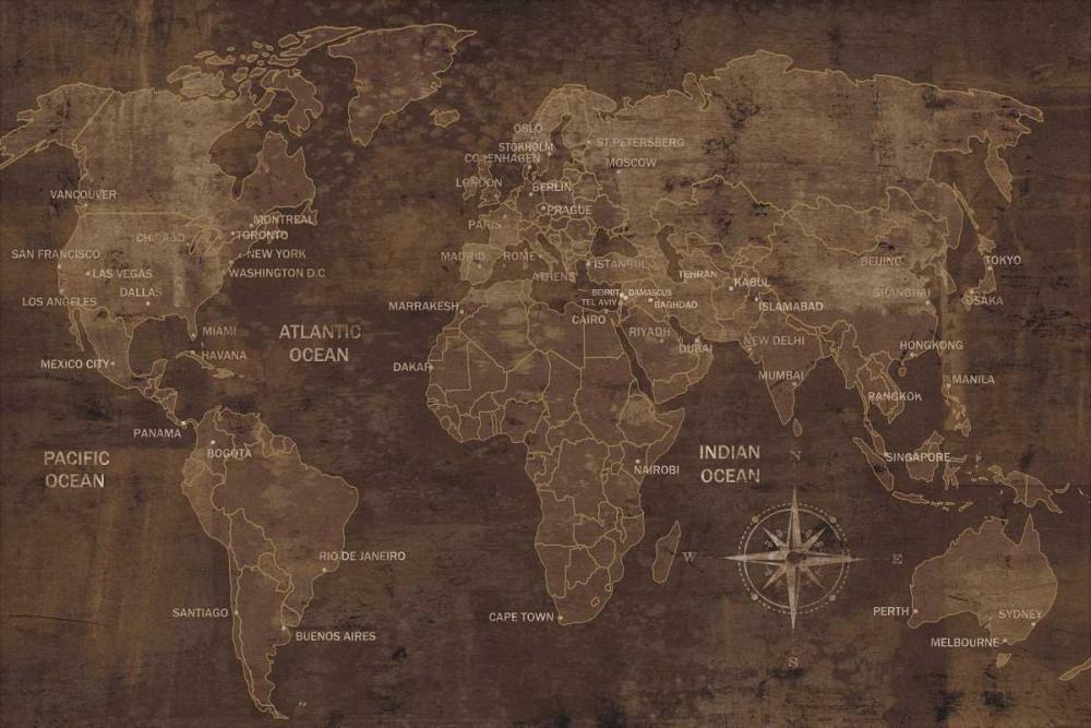 konfigurieren des Kunstdrucks in Wunschgröße The World von Wilson, Luke