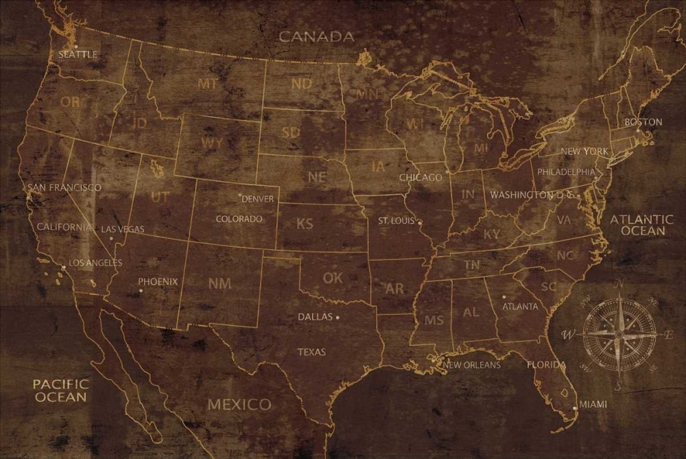 konfigurieren des Kunstdrucks in Wunschgröße United States von Wilson, Luke