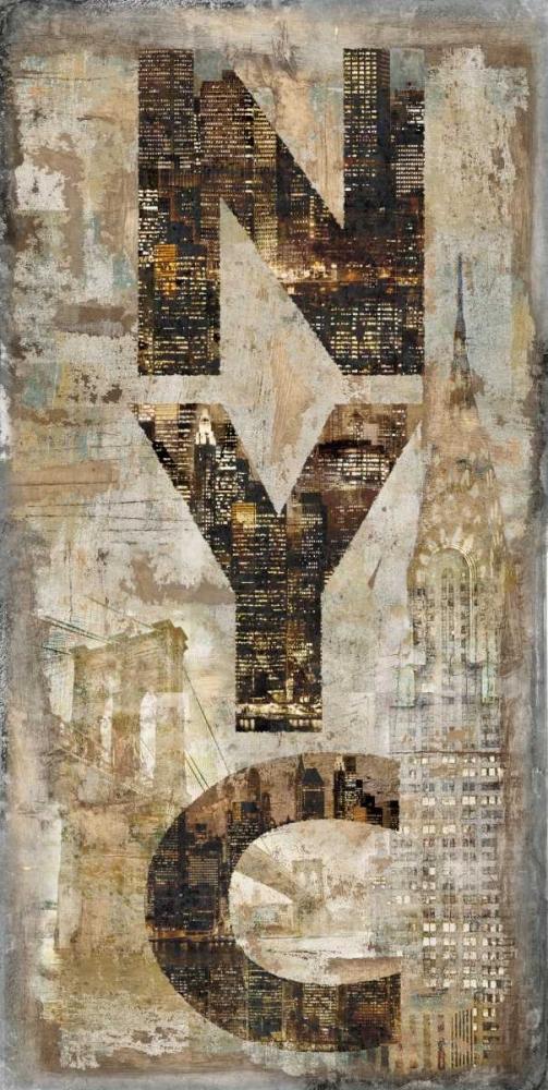 konfigurieren des Kunstdrucks in Wunschgröße NYC Vertical von Wilson, Luke