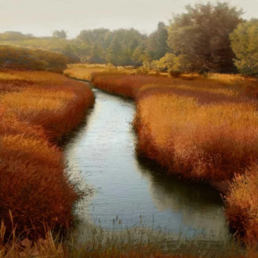 konfigurieren des Kunstdrucks in Wunschgröße Sunlit Pond I von Clark, Madeline
