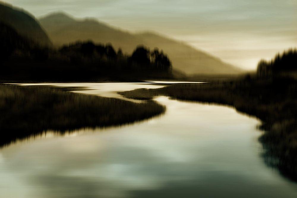 konfigurieren des Kunstdrucks in Wunschgröße Calm River I von Clark, Madeline