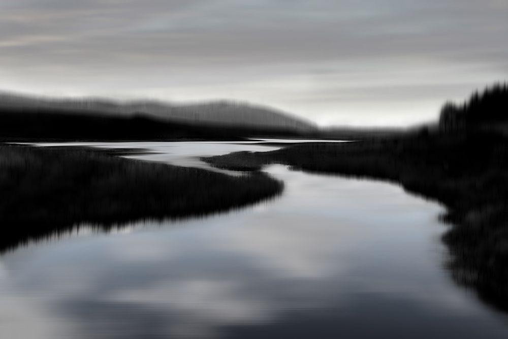 konfigurieren des Kunstdrucks in Wunschgröße Calm River II von Clark, Madeline