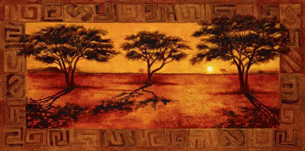 konfigurieren des Kunstdrucks in Wunschgröße Serengeti Sunset von Madou