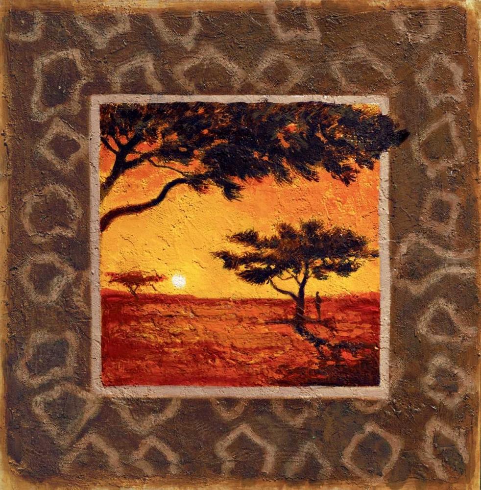 konfigurieren des Kunstdrucks in Wunschgröße Savannah Sunset I von Madou