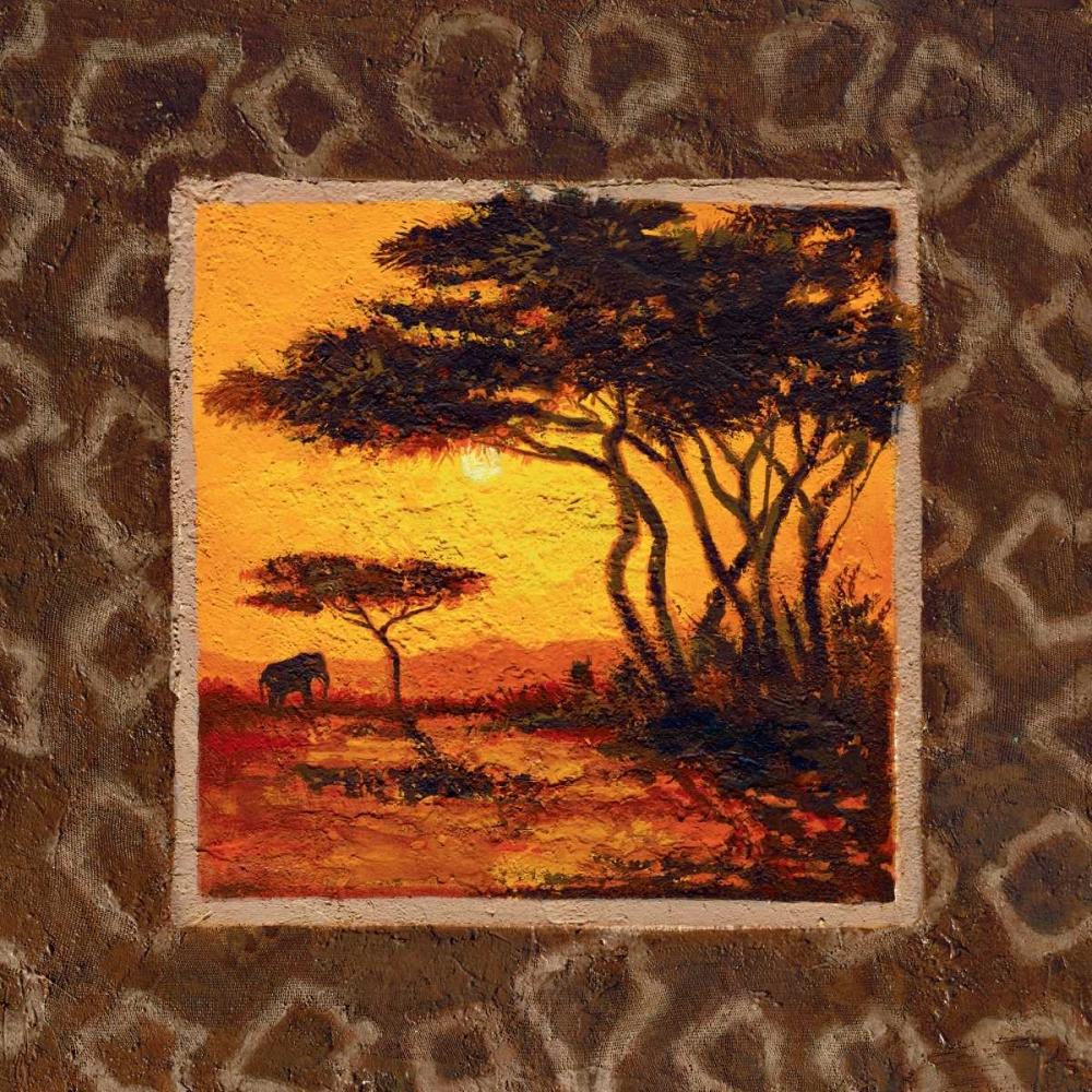 konfigurieren des Kunstdrucks in Wunschgröße Savannah Sunset III von Madou