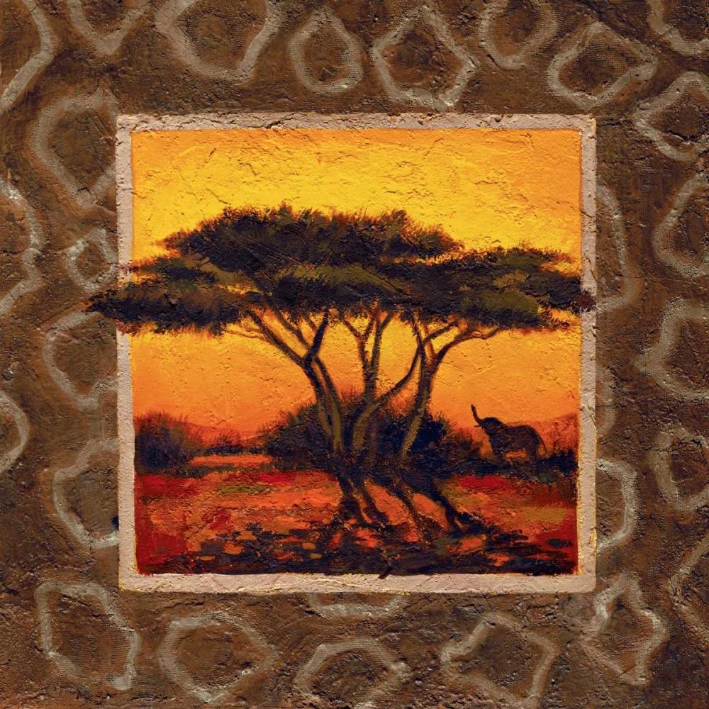 konfigurieren des Kunstdrucks in Wunschgröße Savannah Sunset IV von Madou