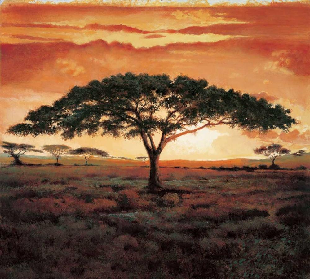 konfigurieren des Kunstdrucks in Wunschgröße Masai Tree von Madou