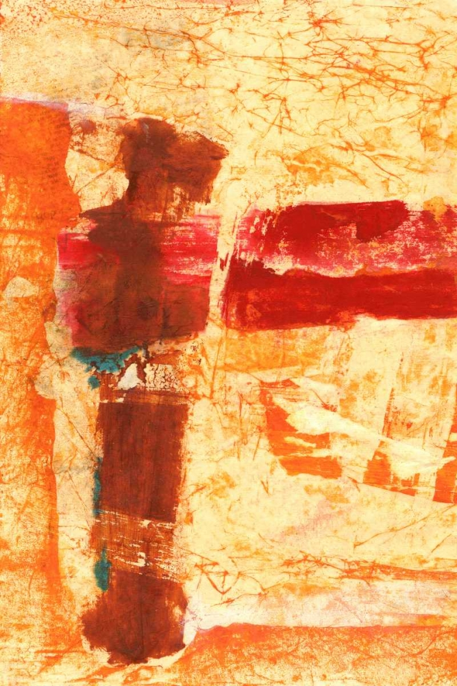 konfigurieren des Kunstdrucks in Wunschgröße Orange Commotion von Oppenheimer, Michelle