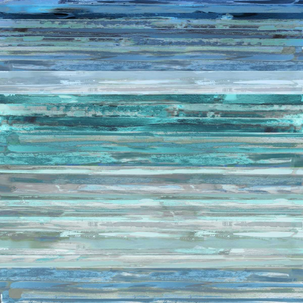 konfigurieren des Kunstdrucks in Wunschgröße Strata In Aqua von Shields, Matt