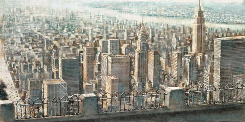 konfigurieren des Kunstdrucks in Wunschgröße City View of Manhattan von Daniels, Matthew