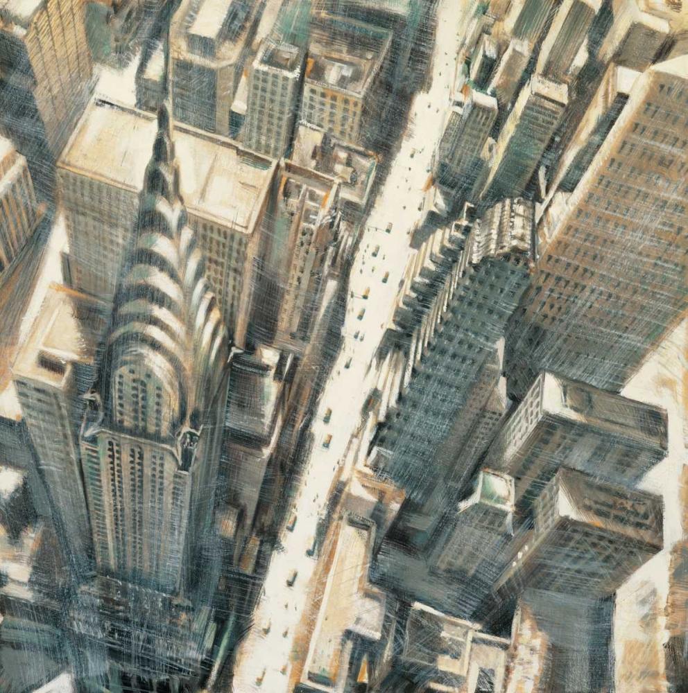 konfigurieren des Kunstdrucks in Wunschgröße Aerial View of Chrysler Building von Daniels, Matthew