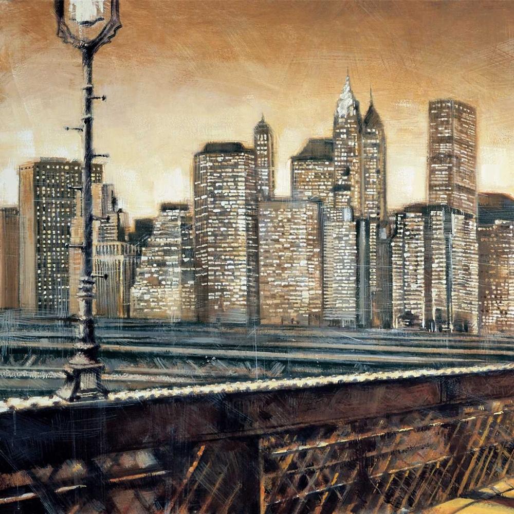 konfigurieren des Kunstdrucks in Wunschgröße Manhattan Sunset I von Daniels, Matthew