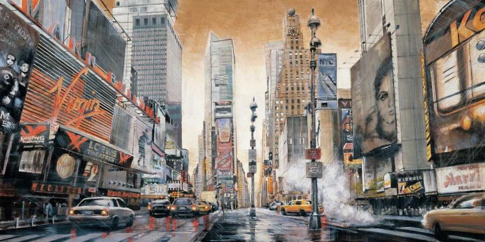 konfigurieren des Kunstdrucks in Wunschgröße Crossroads - Times Square von Daniels, Matthew