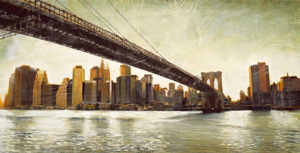 konfigurieren des Kunstdrucks in Wunschgröße Brooklyn Bridge View von Daniels, Matthew