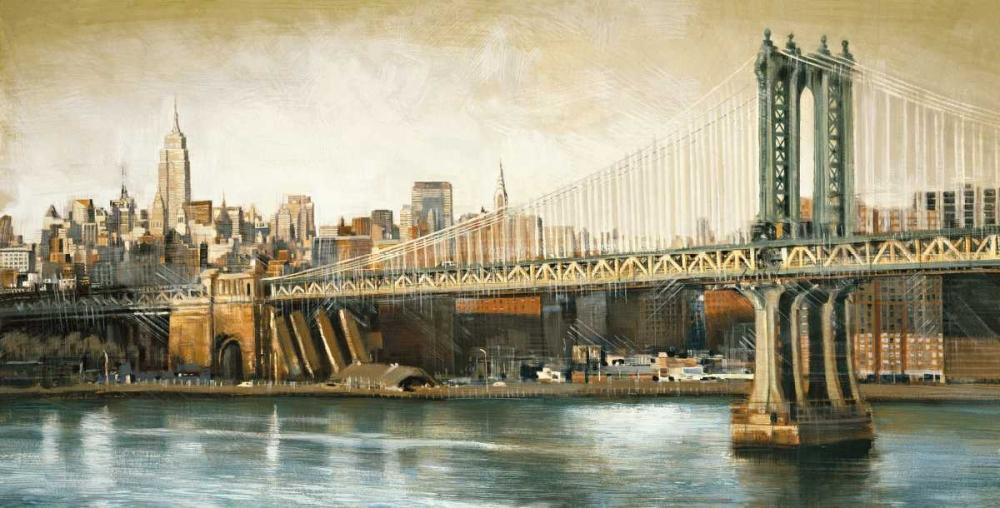 konfigurieren des Kunstdrucks in Wunschgröße Manhattan Bridge View von Daniels, Matthew