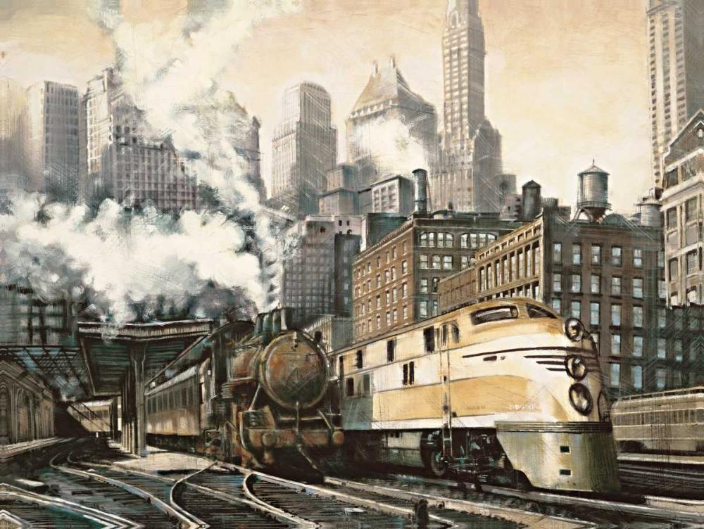 konfigurieren des Kunstdrucks in Wunschgröße The Station-Chicago von Daniels, Matthew