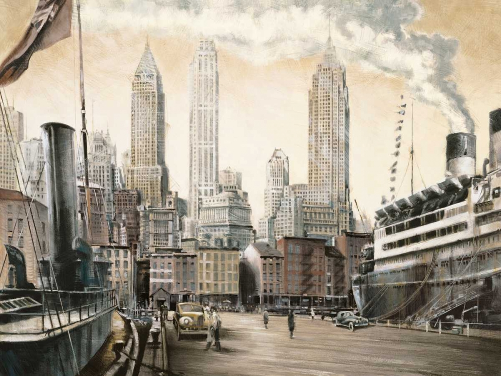 konfigurieren des Kunstdrucks in Wunschgröße Departure-New York von Daniels, Matthew