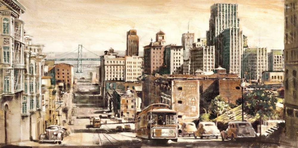 konfigurieren des Kunstdrucks in Wunschgröße San Francisco View to Bay Brid von Daniels, Matthew