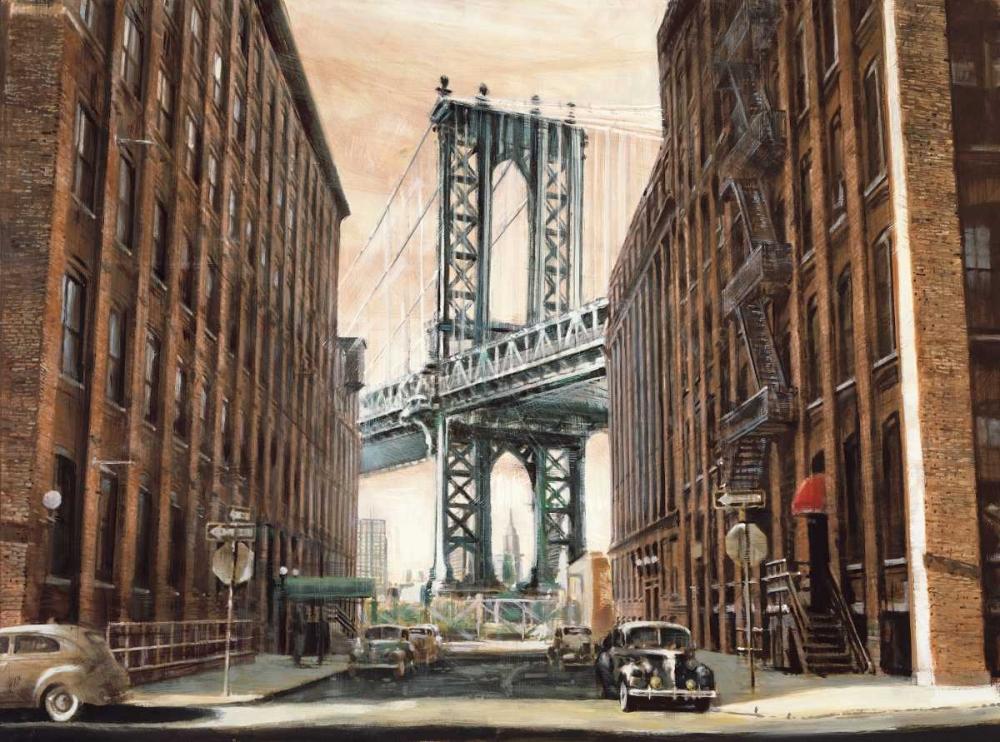 konfigurieren des Kunstdrucks in Wunschgröße View to the Manhattan Bridge von Daniels, Matthew