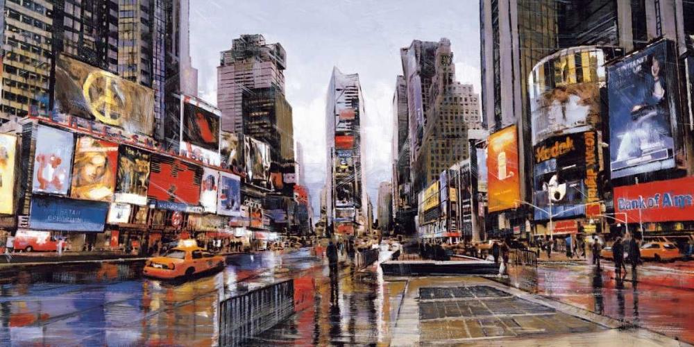 konfigurieren des Kunstdrucks in Wunschgröße Evening in Times Square von Daniels, Matthew