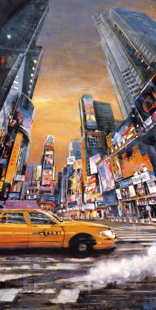 konfigurieren des Kunstdrucks in Wunschgröße Times Square Perspective I von Daniels, Matthew