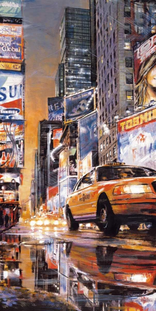 konfigurieren des Kunstdrucks in Wunschgröße Times Square Perspective II von Daniels, Matthew