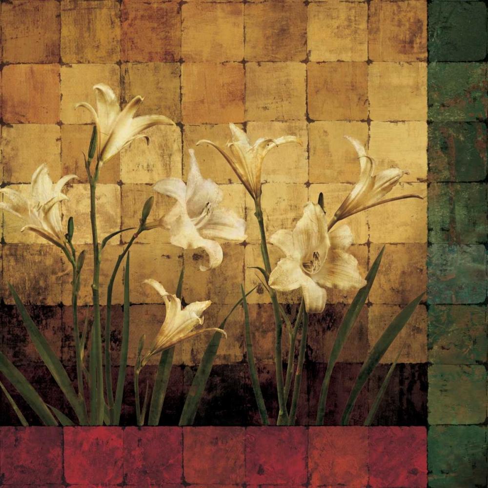 konfigurieren des Kunstdrucks in Wunschgröße Lily Garden von Wells, Marcia