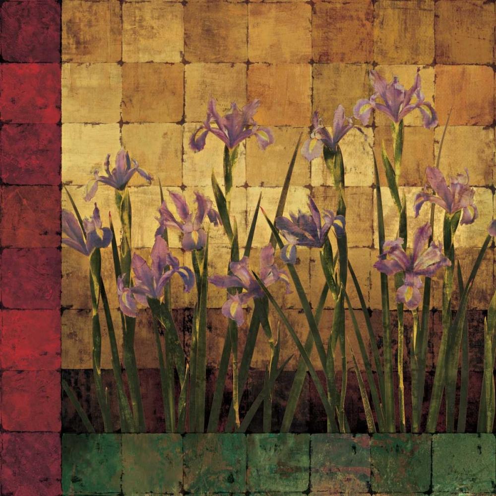 konfigurieren des Kunstdrucks in Wunschgröße Iris Garden von Wells, Marcia