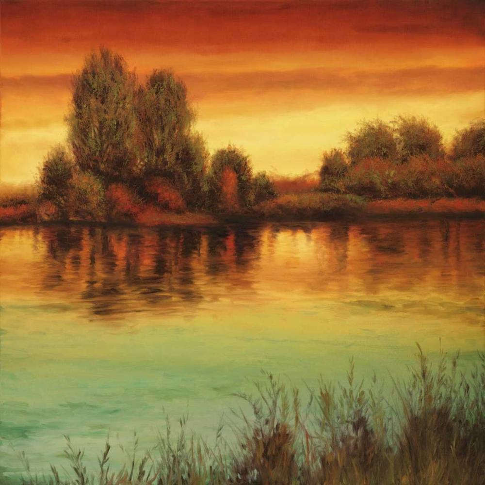 konfigurieren des Kunstdrucks in Wunschgröße River Sunset II von Thomas, Neil
