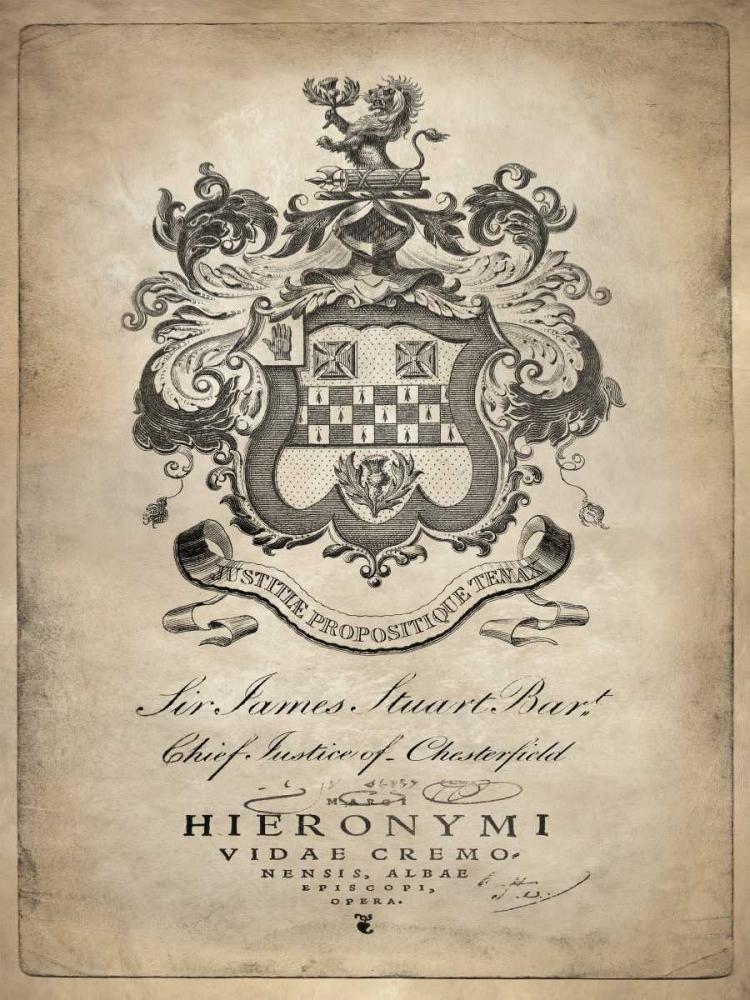konfigurieren des Kunstdrucks in Wunschgröße Heraldry I von Jeffries, Oliver