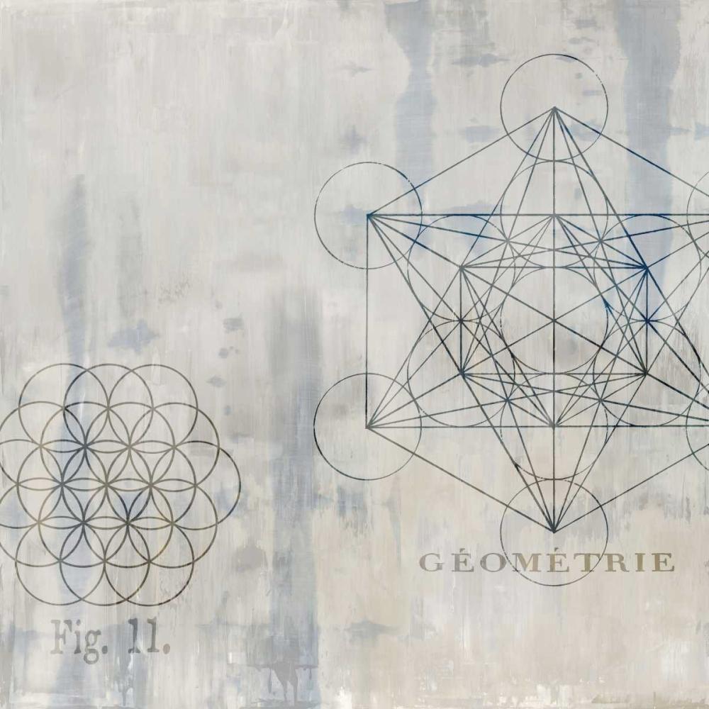 konfigurieren des Kunstdrucks in Wunschgröße Geometrie I von Jeffries, Oliver