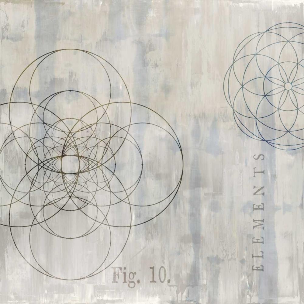 konfigurieren des Kunstdrucks in Wunschgröße Geometrie II von Jeffries, Oliver