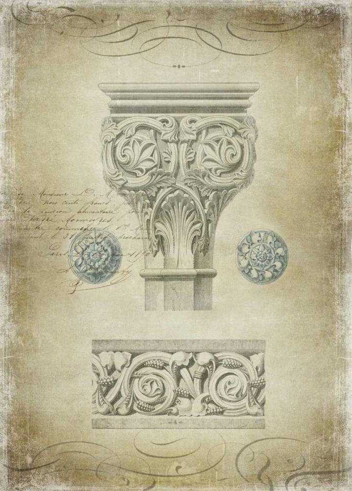 konfigurieren des Kunstdrucks in Wunschgröße Ornamental I von Jeffries, Oliver