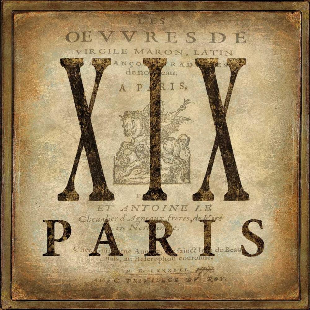 konfigurieren des Kunstdrucks in Wunschgröße Paris von Jeffries, Oliver