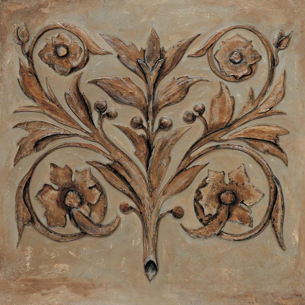 konfigurieren des Kunstdrucks in Wunschgröße Decorative Scroll I von Segovia, Pablo