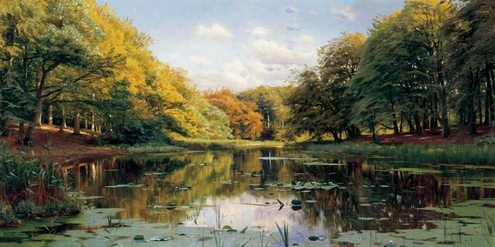 konfigurieren des Kunstdrucks in Wunschgröße River Landscape von Monsted, Peder