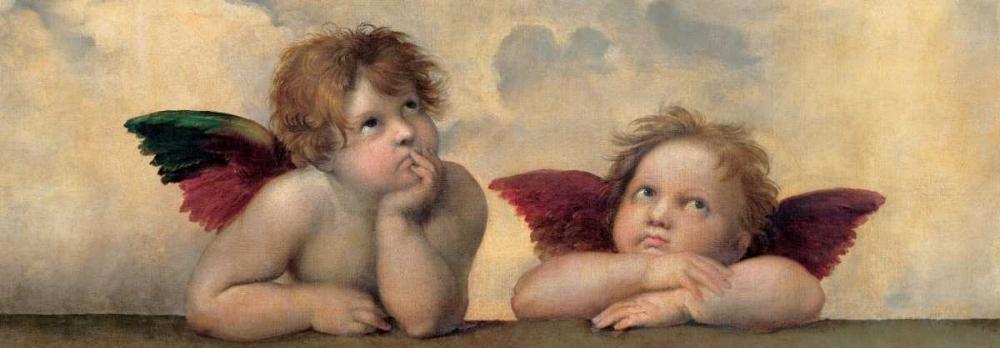 konfigurieren des Kunstdrucks in Wunschgröße Angeli - Madonna Sistina von Sanzio, Raffaello
