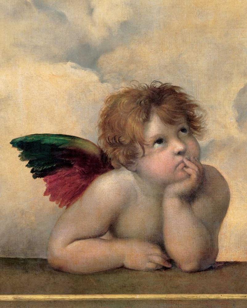 konfigurieren des Kunstdrucks in Wunschgröße Angelo I - Madonna Sistina von Sanzio, Raffaello