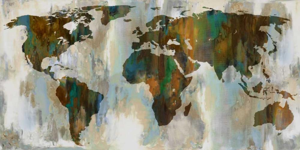 konfigurieren des Kunstdrucks in Wunschgröße World  of Color von Brennan, Russell